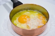 Raw and Cooked egg
